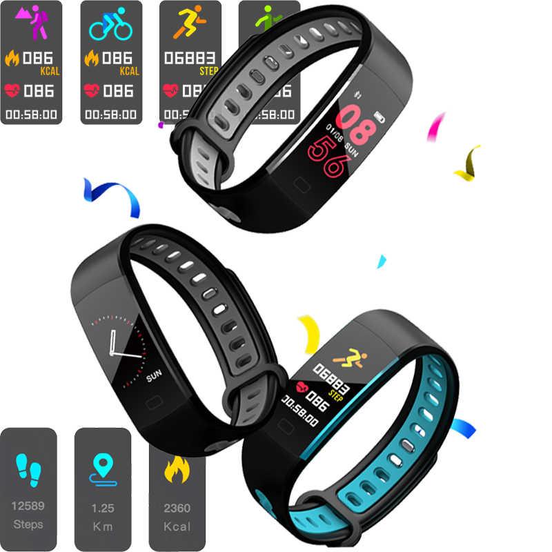 ליגע 2019 חדש גברים נשים ספורט חכם צמיד כושר Tracker פדומטר OLED צבע מגע מסך חכם צמיד PK mi band 3 + תיבה