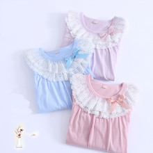 Mother and Daughter Baby Girls Pajama Nightgowns 4-12Year Girls Princess Sleepwear Dresses Cotton Children Nightie Dress Pajamas