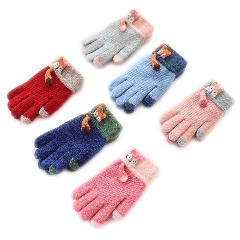 Schmuck & Zubehör 1 Para Kinder Mode Kleidung Zubehör Feste Schönes Mädchen Handschuhe Faux Kaninchen Pelz Handschuhe Winter Voller Finger Warme Handschuh