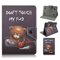 "Universal 9.7""/ 10""/ 10.1"" Inch Tablet Case DON'T TOUCH MY PAD Pattern Filp Stand PU Leather Protective Case Cover For 10.1"" Tab"