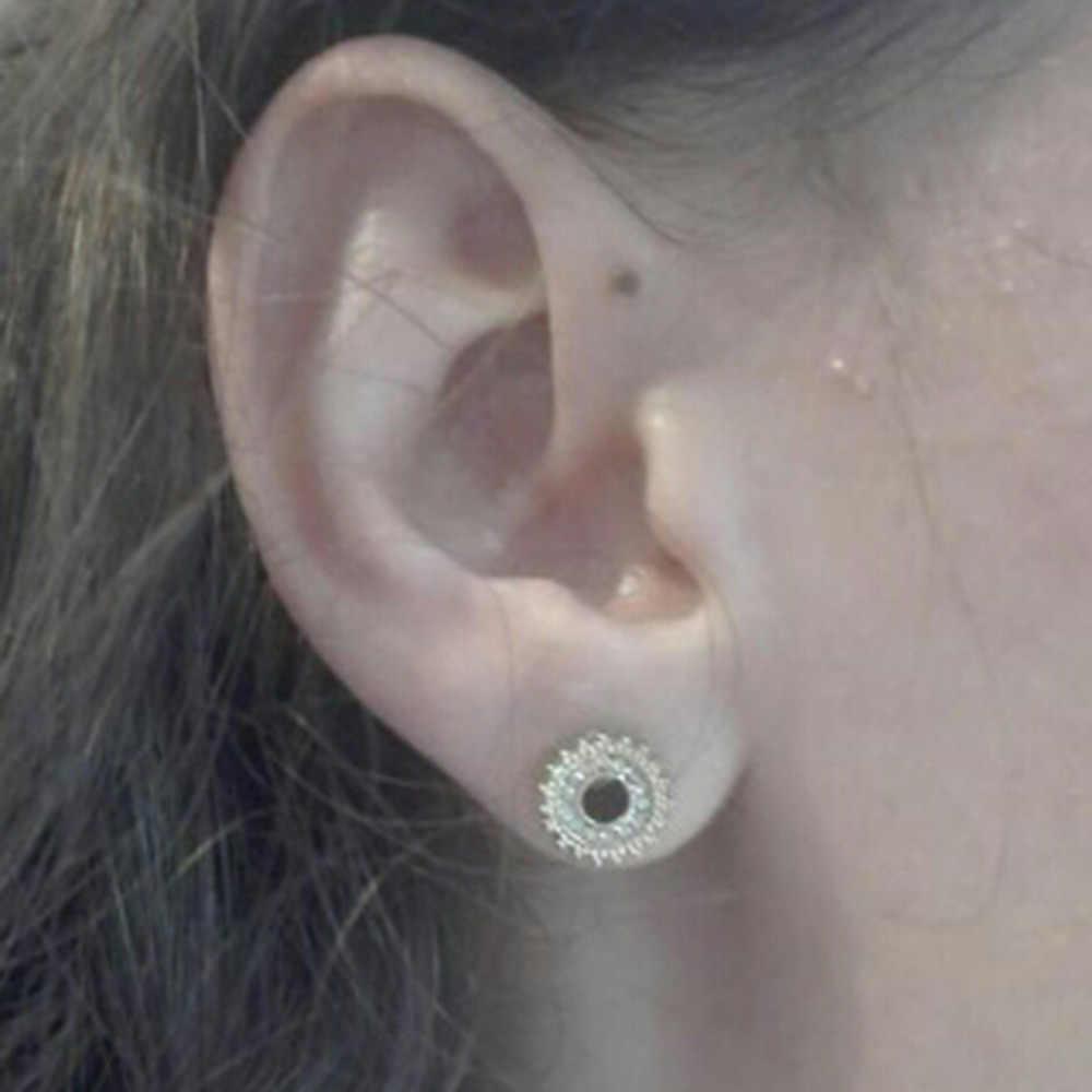 2pcs Fashion Flesh Tunnels Ear Plugs Big Gauge Piercing Expander Crystal 6mm 20mm Pircing Body Jewelry For Women