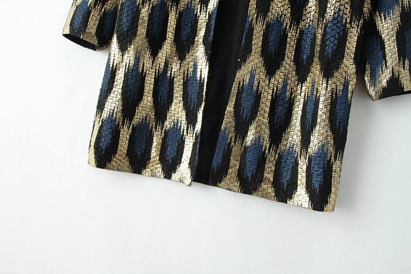 HTB1BVHlJFXXXXcDXFXXq6xXFXXXF - 2015 Autumn New The peacock printing Knitting Long Cardigan Ladies Sweater Women Coat Outwear Snake Pattern Bronzing Tops