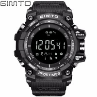 GIMTO Digital Sport Watch Men Clock Waterproof LED Stopwatch Barometer Altitude Temperature Shock Male Electronic Wrist