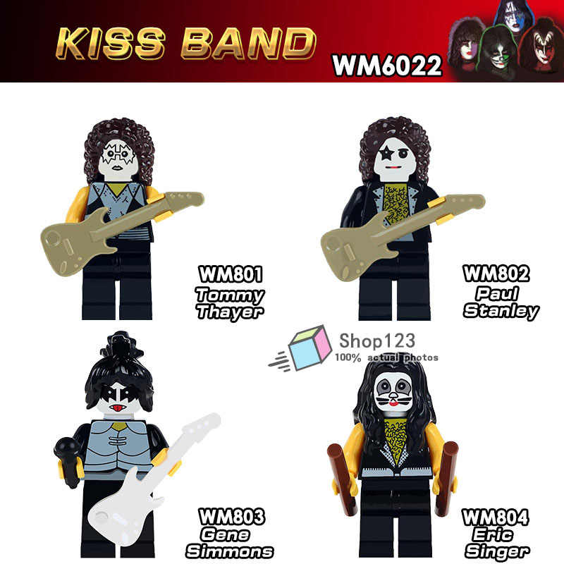 fcdf868660c23 Detail Feedback Questions about 4pcs/lot Famous Guitarist Tommy Thayer  American Rock Band Kiss Building Blocks Legoing Kiss Band Christmas Toys  Legoing ...