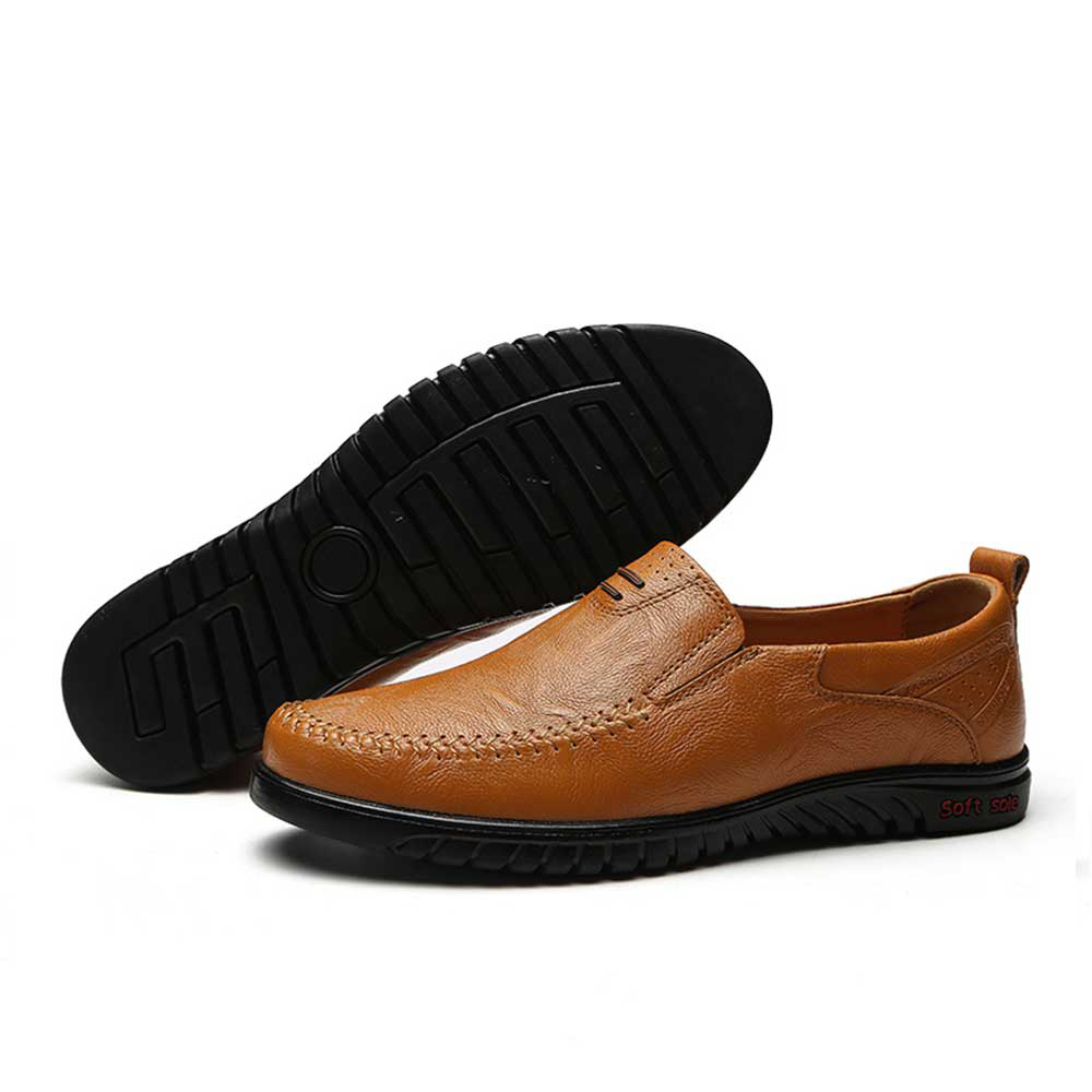 цена на Big Size New Arrival Split Leather Men Casual Shoes Fashion Top Quality Driving Moccasins Slip On Loafers Men Flat Shoes 36~46