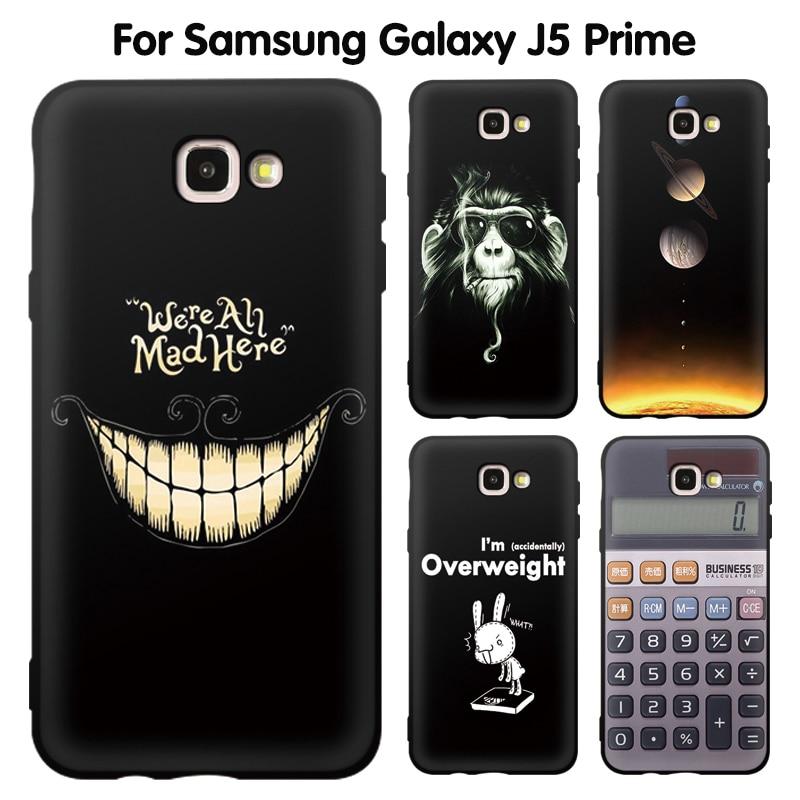 EiiMoo Funda For Samsung Galaxy J5 Prime Duos G570F Case Cartoon Silicone Soft Back Cover For
