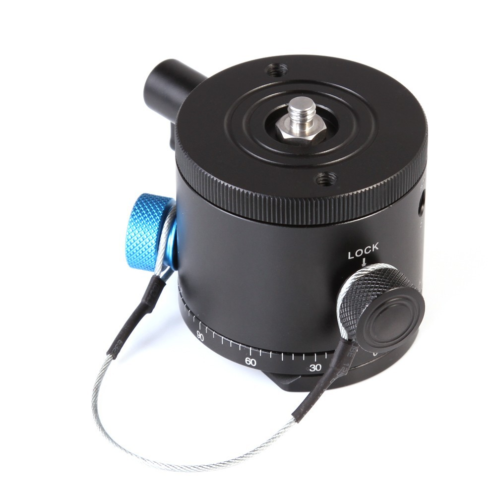 Perfect Home Convenience Durable Aluminum Alloy Panoramic Indexing Rotator Ball Head for Camera Tripod Head Durable