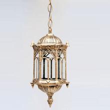 Открытый бронзовый фонарь Потолочный подвесной светильник садовый наружный светильник