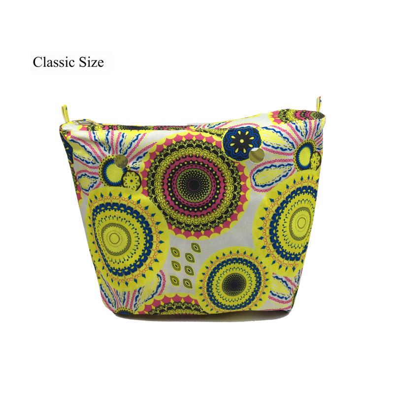 Prix pour 10 couleurs Silicone paquet accessoires Classique Taille Insert étanche Intérieure Doublure Insérer Poche À Fermeture Éclair pour Obag O Sac sac à main