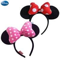 Disney Genuine Headdress Head Hoop Mickey Minnie Mouse Ears Girls Hair Bands Head Hoop Plush Toys