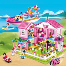 Friends Series Building Blocks The City Ferris Wheel Carousel Holiday villa Model Legoes Bricks Girl Children Toys Kids Gifts lepin 15012 2478pcs city street ferris wheel model building kits blocks toy children gifts 10247