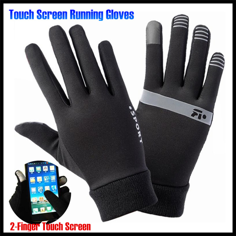 Men&Women Winter Warm Lightweight 2-Finger Touch Screen Gloves,Super Elastic Quick-dry,Non-slip,Jogging Sporting Magic Gloves