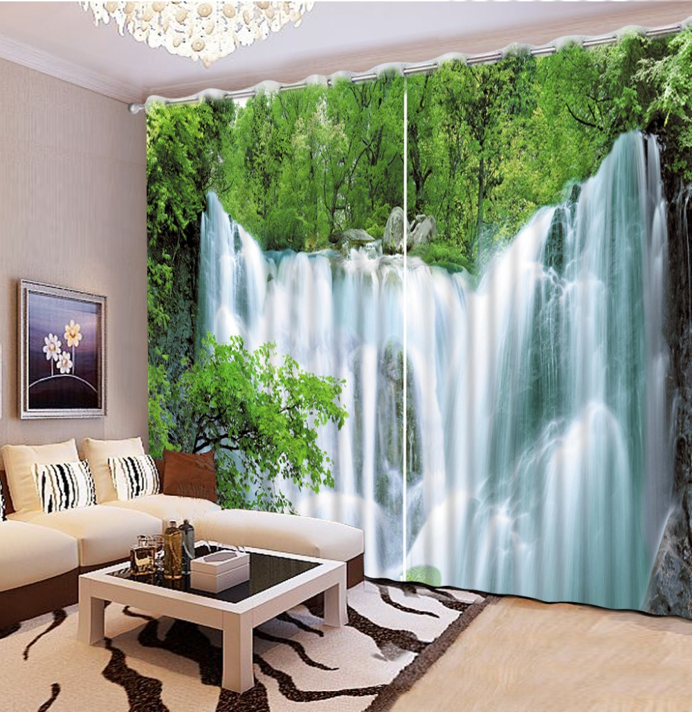 Photo Customize size curtains for living room green window waterfall living  room curtains living room windowOnline Get Cheap Waterfall Installation  Aliexpress com   Alibaba  . Living Room Waterfall. Home Design Ideas