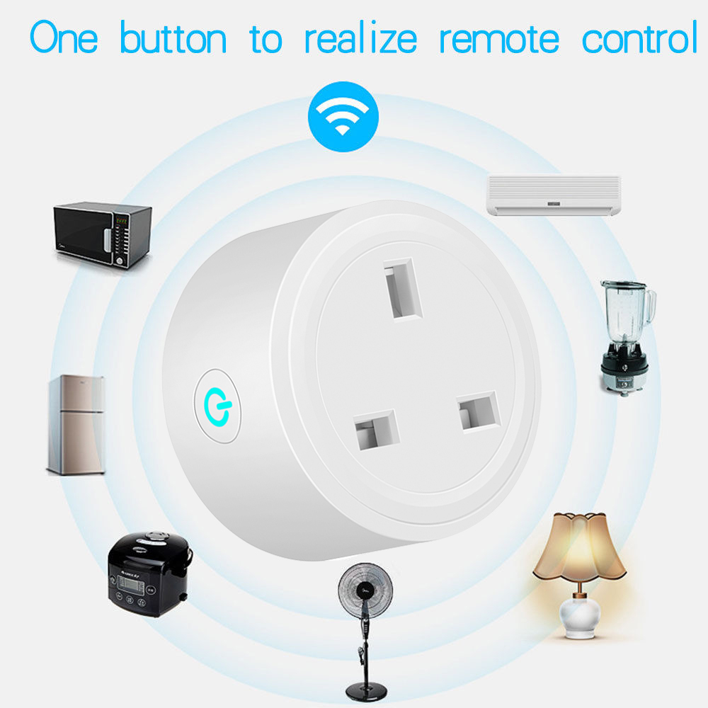BSD29 WIFI Smart Socket UK Plug Remote Control Socket Voice Control Timing Smart Socket Work For Amazon Alexa/Google Assistant