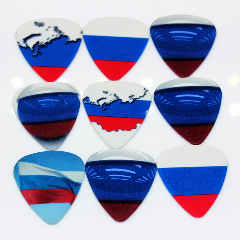 SOACH 50pcs Bass Guitar pick Russian national flag Plucked Instrument Accessories Guitar / Acoustic guitar / ukulele parts
