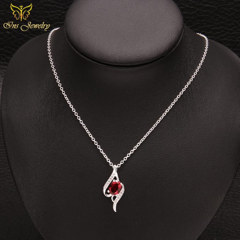 Wholesale women 18k white gold chain ruby round blood red crystal wholesale women 18k white gold chain ruby round blood red crystal pendant geometric choker necklace fashion jewelry in pendant necklaces from jewelry aloadofball Choice Image
