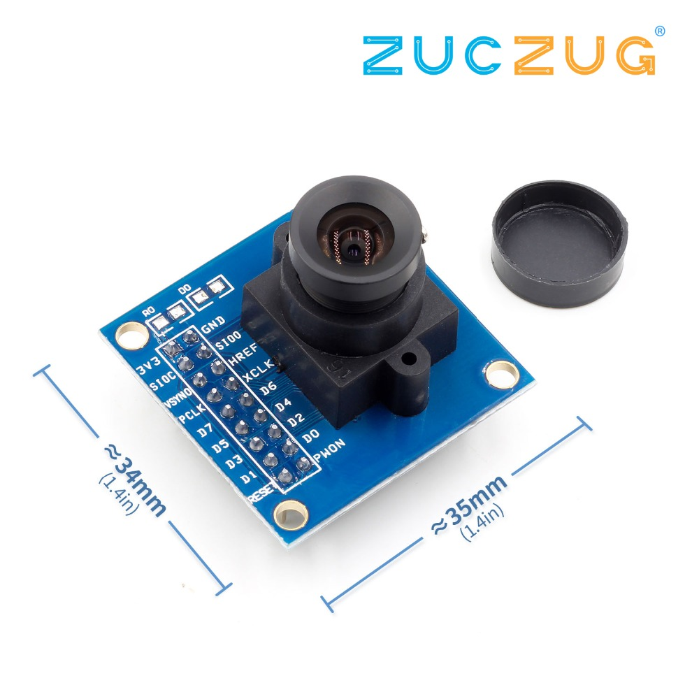 1Pcs Blue OV7670 300KP VGA Camera Module For Arduino DIY KIT