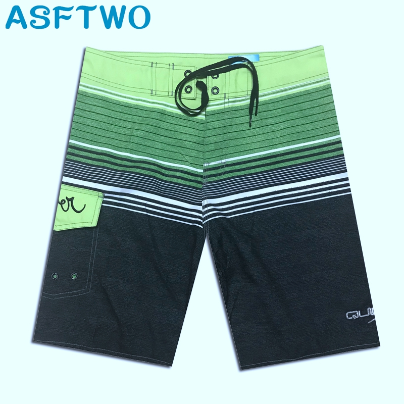 NEW Design Quick Dry Polyester Beach Pants Men's Board Shorts Striped Shorts XL XXL