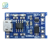 TP4056 5V 1A Micro USB 18650 Lithium Battery Charging Board Charger Module+Protection Dual Functions