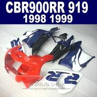 Aftermarket Fairing kit For honda CBR900 RR 919 1998 1999 ( Red Blue Fairings ) cbr 900rr 98 / 99 CN17