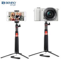 Benro SC1 carbon fiber mini tripod selfie stick + Bluetooth wireless for smartphone Gopro Action Camera soft 3 4