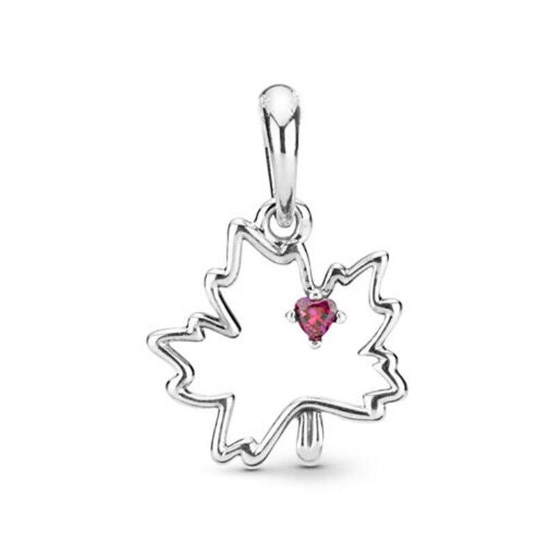 2019 Verão 925 Prata Esterlina Colar de Pingente Símbolo do Canadá Charme Fit Pandora Original Pulseira para As Mulheres DIY Jóias Presente