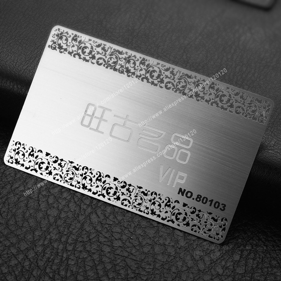 Wholesales Stainless Steel Business Name CARD Silver Color