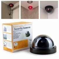 Smarsecur barato precio exterior impermeable IR CCTV cúpula simulada de la cámara de seguridad de vigilancia falsa LED