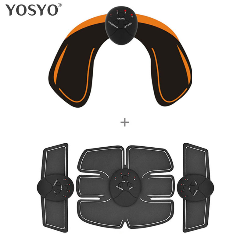 лучшая цена Smart EMS Hips Trainer Electric Muscle Stimulator Wireless Buttocks Abdominal ABS Stimulator Fitness Body Slimming Massager Knit