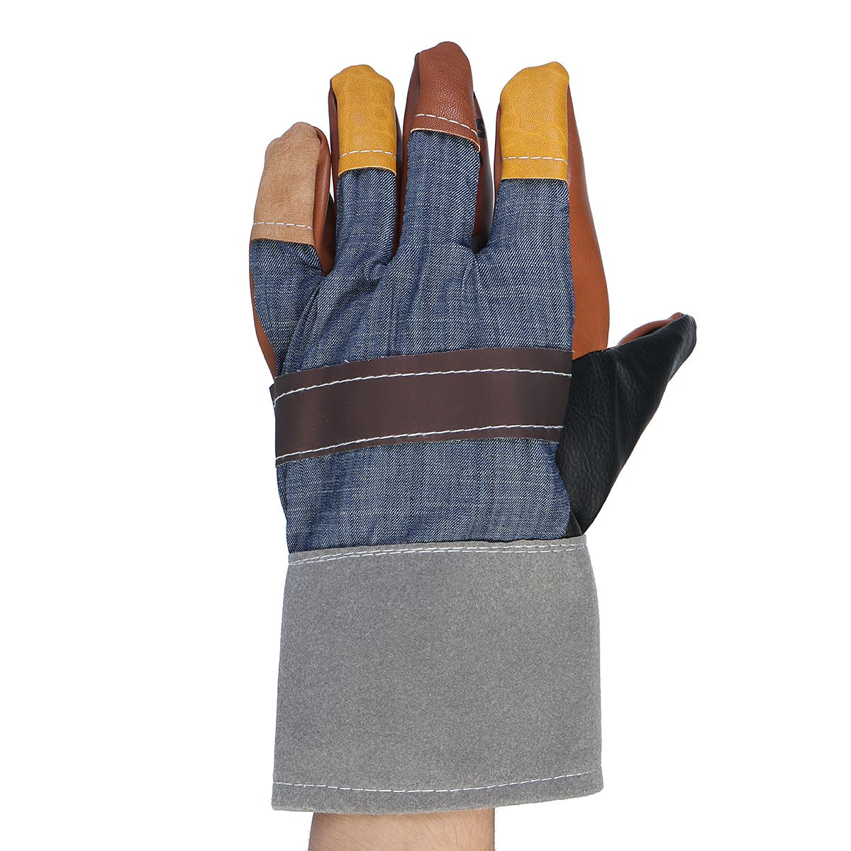 NEW Special 1 Pair Gloves Welder Gloves Leather Workplace Safety Hand Protection Cut Resistant strong 0 35mmpb medical x ray protective gloves ray workplace use gloves lead rubber gloves