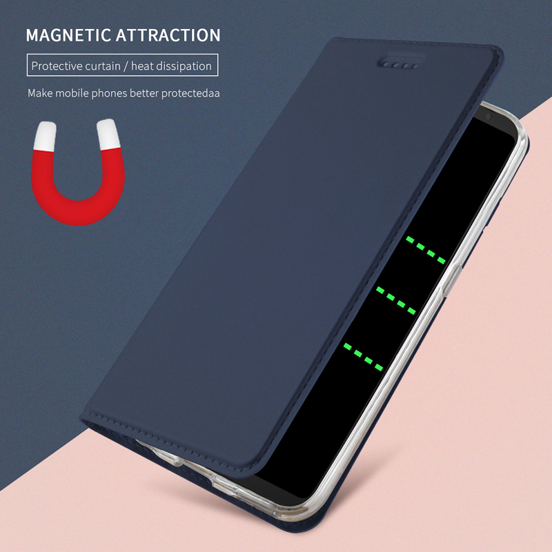 Nytt för Samsung Galaxy S8 S9 S10 Plus S10e S7 kant PU Läderfodral Flip Cover för Samsung Note 10 9 8 Folio fodral