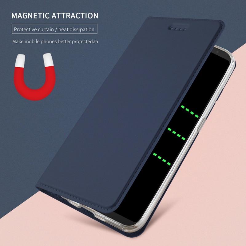 Baru untuk Samsung Galaxy S8 S9 S10 Ditambah S10e S7 tepi PU Kulit Kulit Kasus Flip Cover untuk Samsung Note 10 9 8 Folio ...