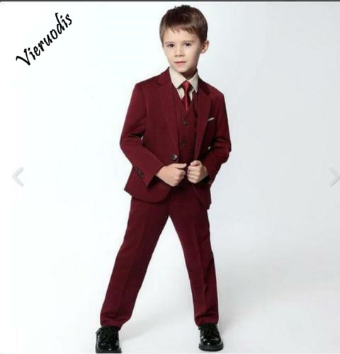 Slim Boy 39 s Suits Red Formal Flower Boys Wedding Tuxedo Page Boy Party Prom Suits in Boys 39 Attire from Weddings amp Events