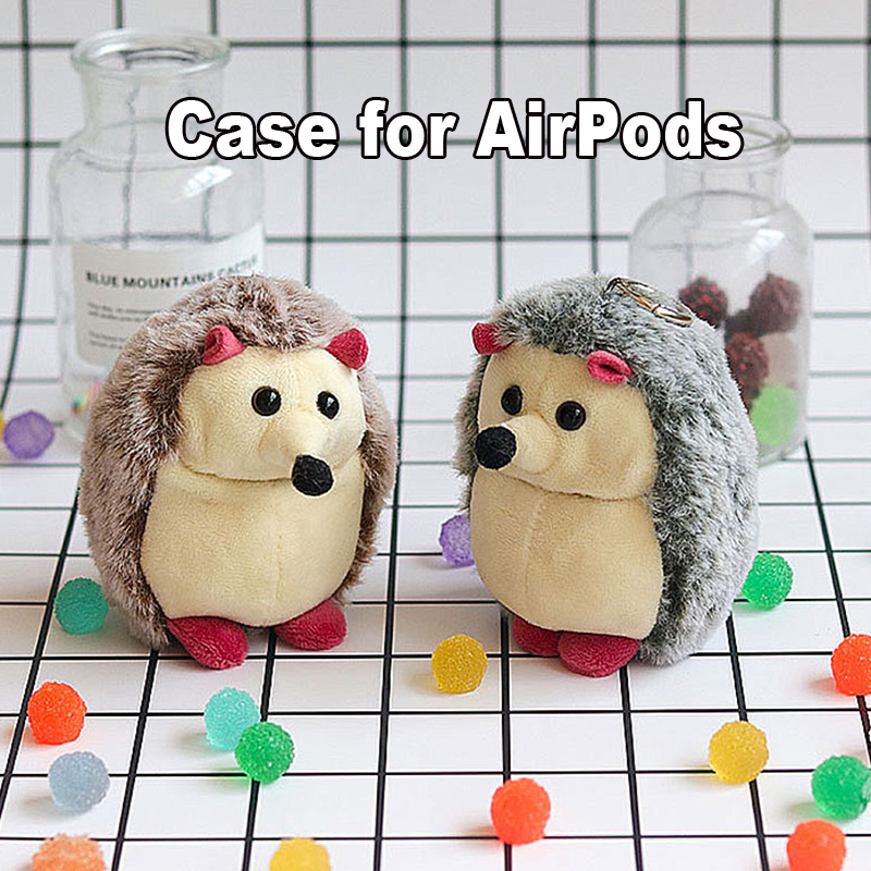 Cute Plush Hedgehog Soft Case Bag for Apple Airpods Bluetooth Earphone Accessories Headphone Charging Box Headset Protect Cover