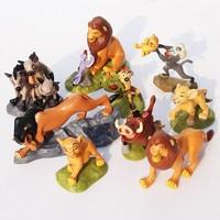 9 unids/set PVC El Rey León León Estatuilla Figura de Acción de Juguete de Los Animales Juguetes Para Niños de 5-9 cm