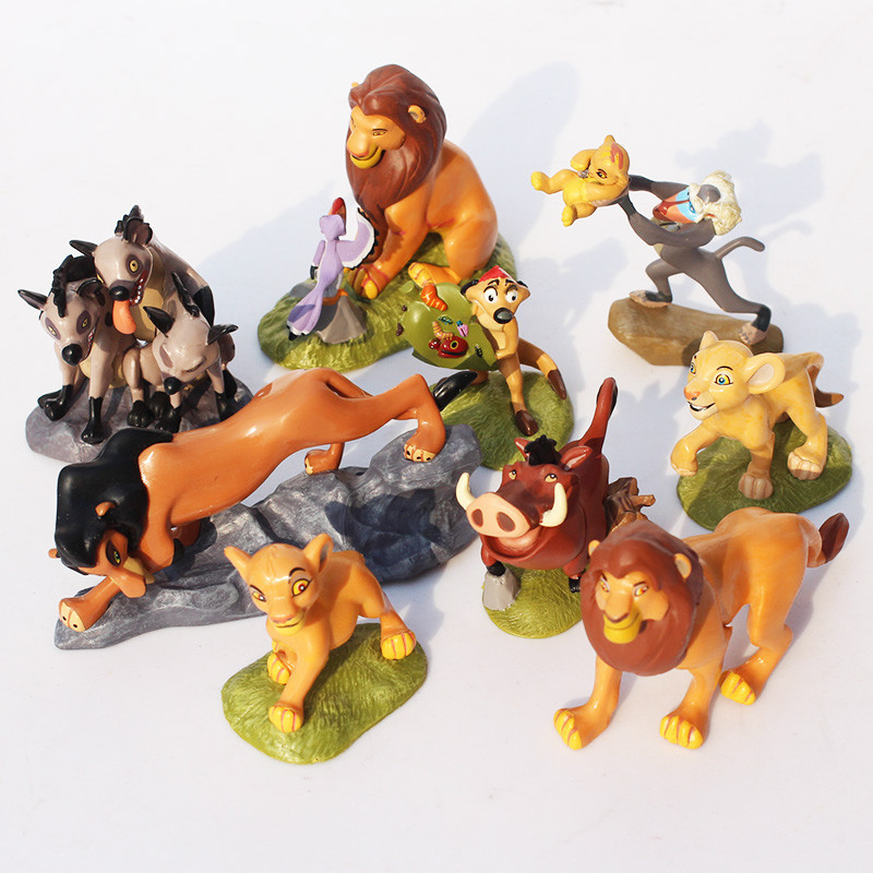9pcs/set PVC The Lion King Action Figure Toy Animal Lion