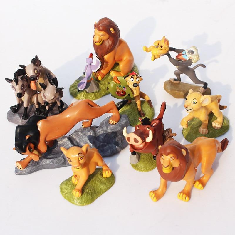 9pcs/set  PVC The Lion King Action Figure Toy Animal Lion Figurine Toys For Children 5-9 cm
