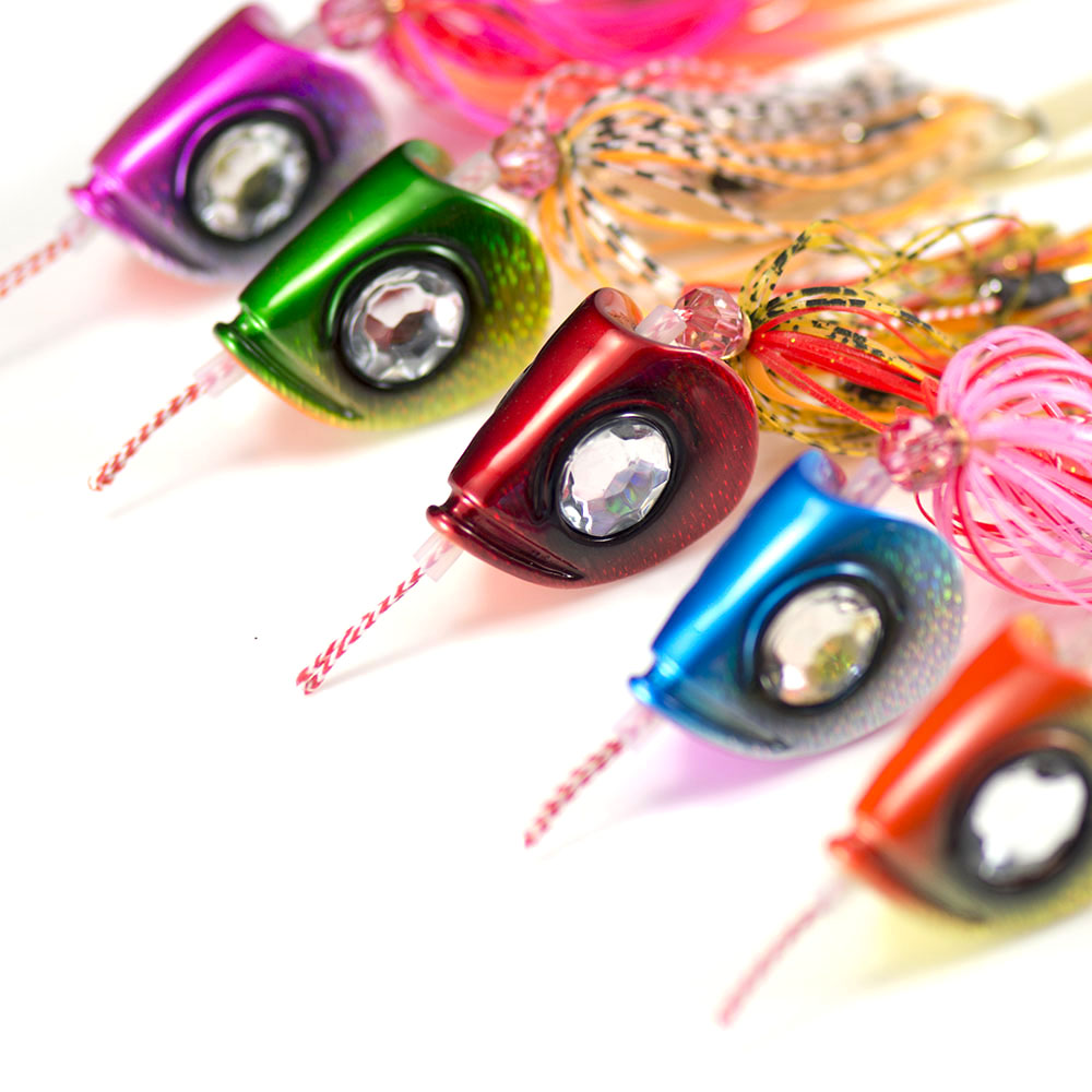 5pcs 100g Countbass Ultimate Slider Jig Tai Rubber Kabura Bottom Madai Rigged Assist Hook Squid Snapper