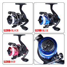 Spinning Fishing Reel LL200 Series Metal Coil Spinning Reel Boat Rock Fishing Wheel Gear Ratio 5:2:1