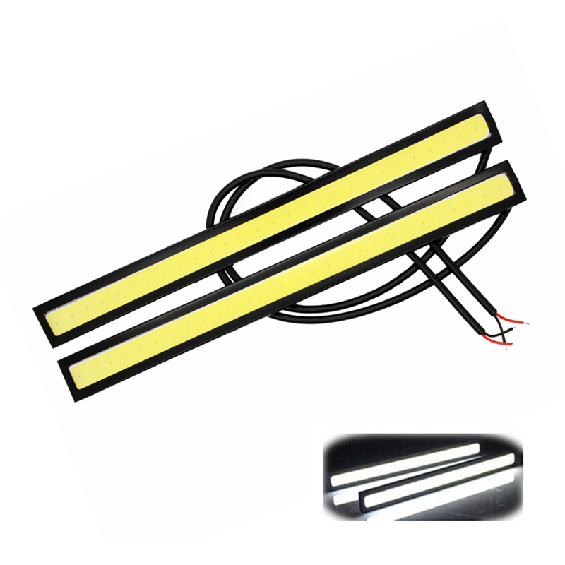 2Pcs/Pair 17CM LED COB DRL 100% Waterproof Daytime Running Light Car Styling DC12V External Lights Parking Fog Bar Lamp Hot Sale