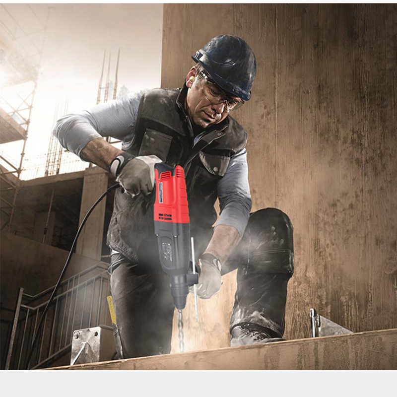 Фотография electrical hammer for cement broken wall brick broken at good price with one set chisel free