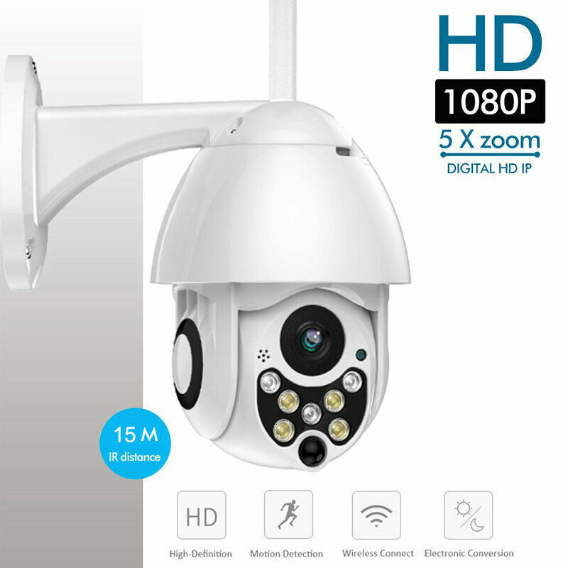Wireless 5XOptical Outdoor CCTV PTZ HD 1080P WIFI IP Camera Dome Security IR CamWireless 5XOptical Outdoor CCTV PTZ HD 1080P WIFI IP Camera Dome Security IR Cam