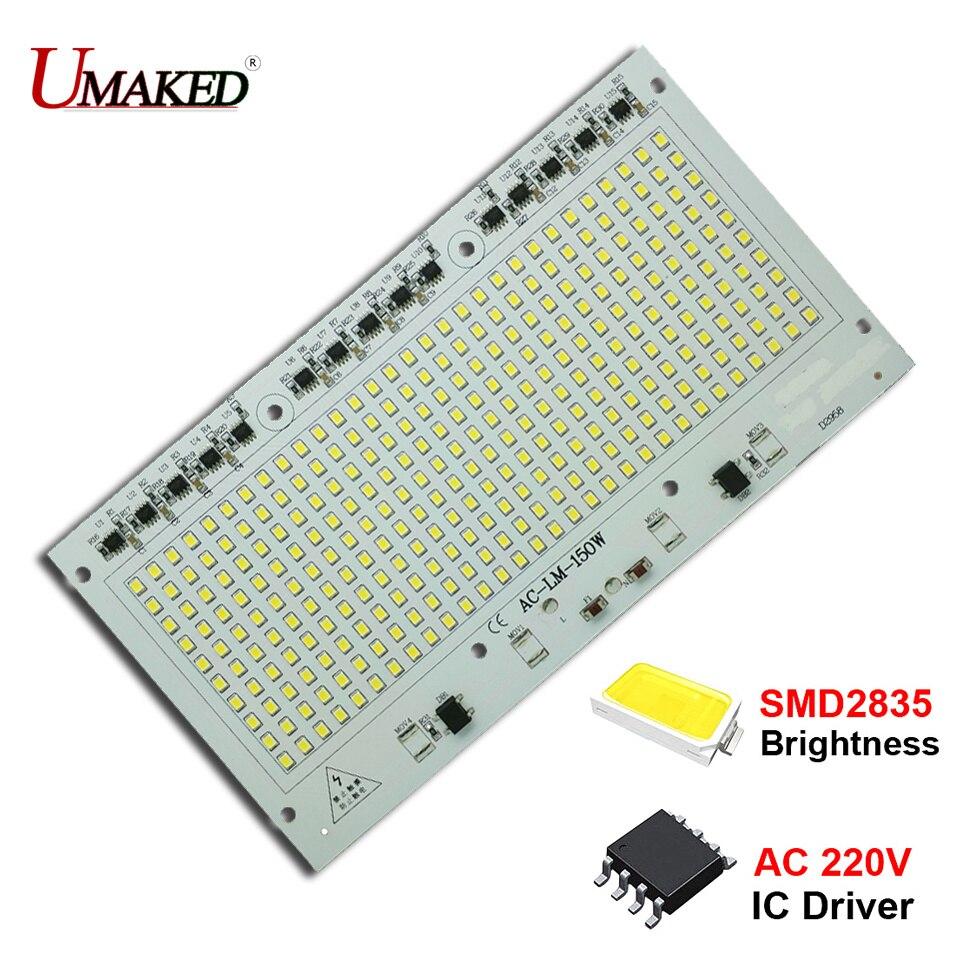 150 Вт AC 220 В светодиодный прожектор PCB SMD высокой мощности Алюминий лампы пластины водителя светодиодный Панель 110lm/w для лампа загорается