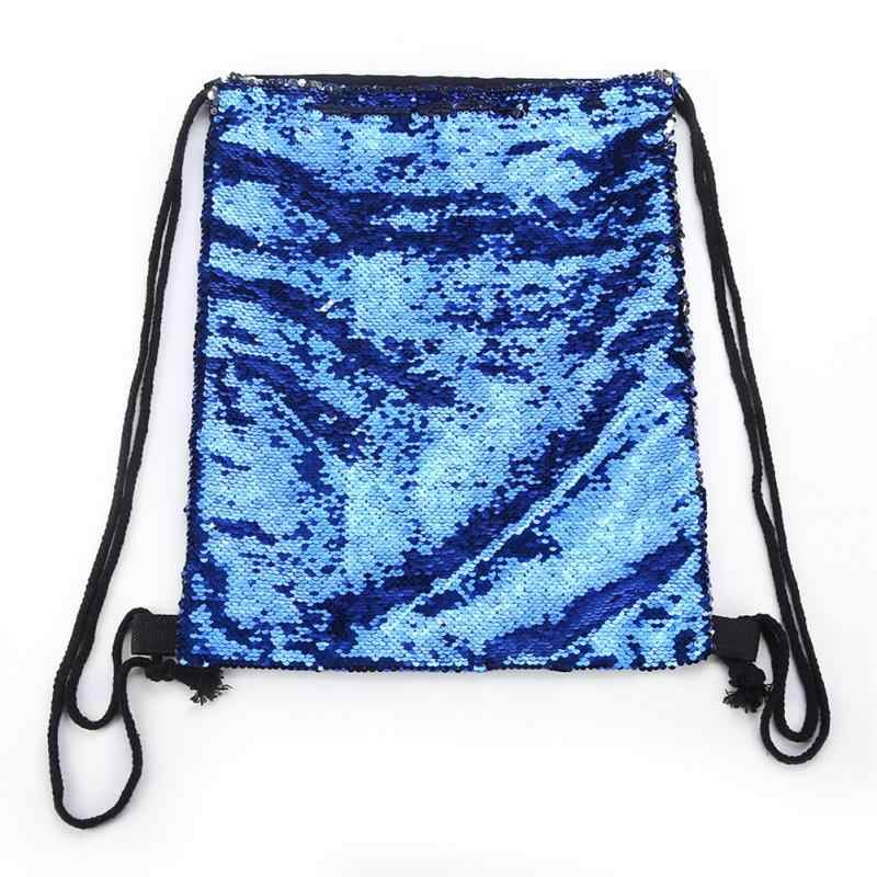 ... Mermaid Sequin Backpack Glittering Shoulder Bling Bags Reversible Glitter  Drawstring Backpacks Women Beach Bag Jewelry Packaging ...