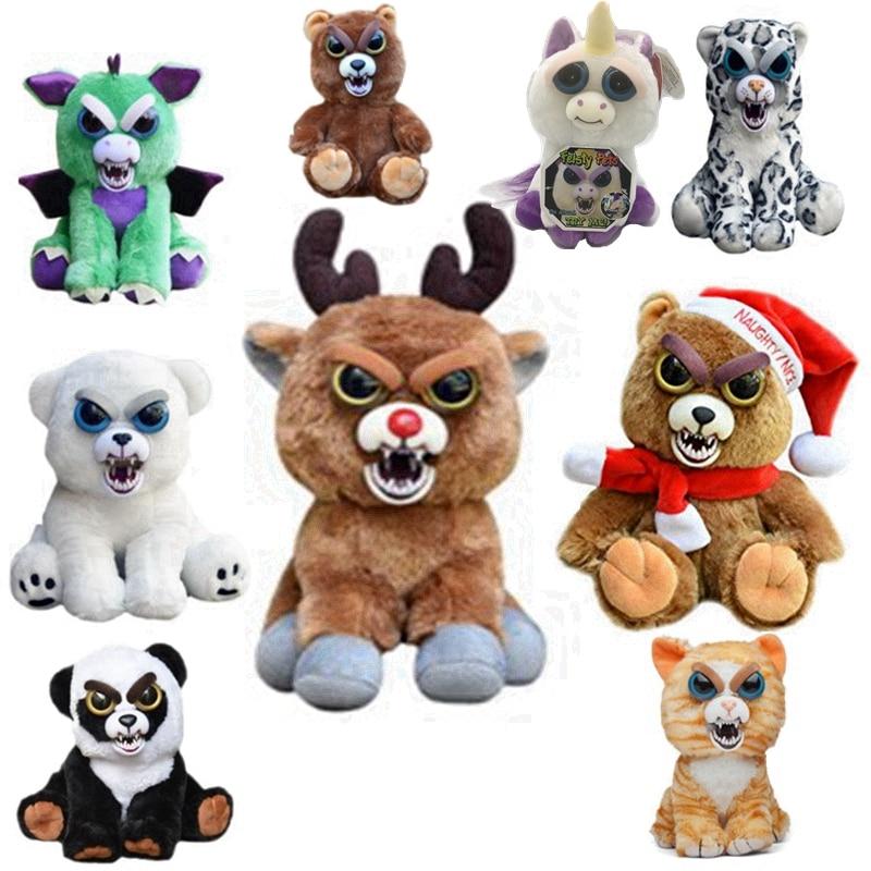 Feisty Pets Unicorn Bear finger monkey Stuffed Plush Doll Toy With Keychain
