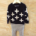BBK Nununu plus Sweater Full Cross Boys Girl Clothing Knitted Children Sweater Kids Shrugs Cothes Pullover Cotton Sweatshirts C*