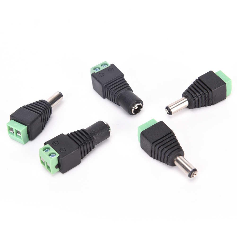 جديد 2.1x5.5mm 2 Pcs DC قوة أنثى التوصيل مهايئ الرافعة موصل التوصيل ل CCTV LED قطاع ضوء