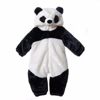 Free Shipping 2016 New Cute Animal Panda One Piece Long Sleeve Cotton Newborn Baby Romper Baby