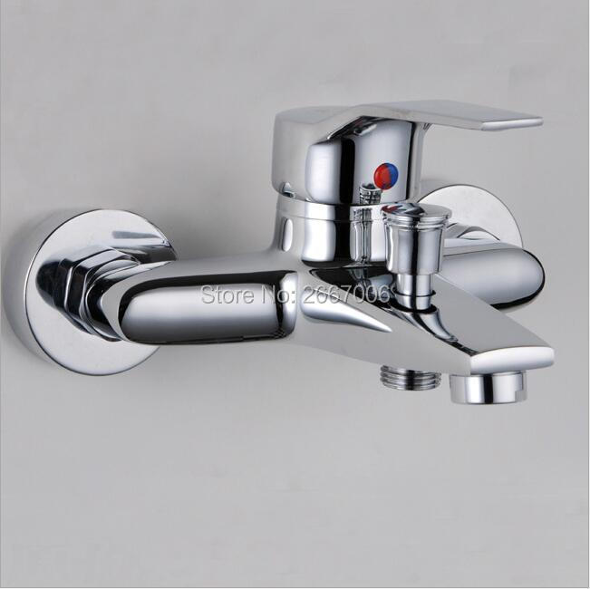 Livraison gratuite offre spéciale Durable en laiton salle de bain baignoire robinet Chrome finition haute poli douche mélangeur robinet chaud froid Contol GI222