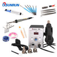 Qsunrun 858D 700W BGA Rework Station,858D+ ESD Soldering Station,LED Digital Display Desoldering Station And Hot Air Gun Holder